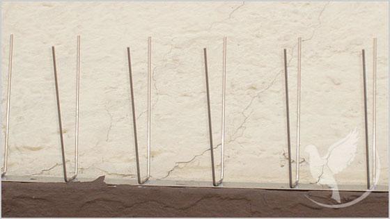 Taubenabwehrspitzen 2er für Simstiefen bis 12 cm